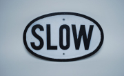 Oval Slow Sign