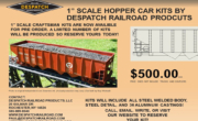1″ Scale Hopper Car Kit